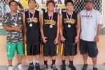 Age 13-14 Division, 2nd Place—Kohala Magic #1: Ramon Cubangbang (coach), Justin Agbayani, Shawn Ramos, Leo Agbayani, Sean Arellano (coach)