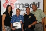 MADD representative Ashley Drake, Traffic Safety Coordinator Dieter Blattler, Traffic Service Sergeant Robert Pauole and Mayor Billy Kenoi