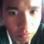 close-up of teen's face