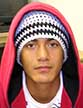 close-up photo in knit cap and hooded sweatshirt