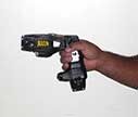 close up of Taser in an officer's hand