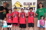 Age 7-8 Division, 1st Place—Game Time Kaʻū: Wesley Martinez (coach), Shesley Martinez, Weston Davis, Kaikea Kaupu-Manini, Jeremiah Dacalio, Rashad Kaupu (coach)