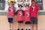 Age 9-12 Division, 2nd Place—St. Joseph:Chris Correa, Cheyden Kawaauhau, Jacob Au, Dean Au (coach)