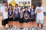 Girls 12 & Under Division, 1st Place—Wahine Ryders Black: Harry Pagan (coach), Danielle Oda, Sharry Pagan, Mandi Kawaha, Anela Brickwood, Jordan Zarate, Fred Collins (coach), (not pictured: Seizen Alameida