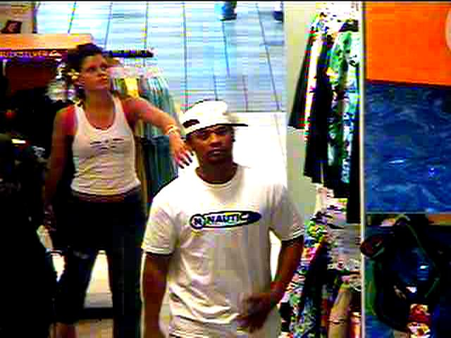 Photo of male & female suspects