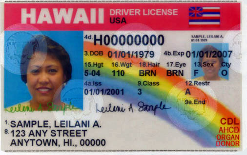Image of new driver license