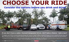 "Image: ""Choose Your Ride"" poster at Kamehameha Ave."