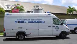 photo of mobile command unit